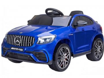 Mercedes Benz GLC63S AMG Metallic Blue Official 12v Electric Kids Ride on Car with Remote Control